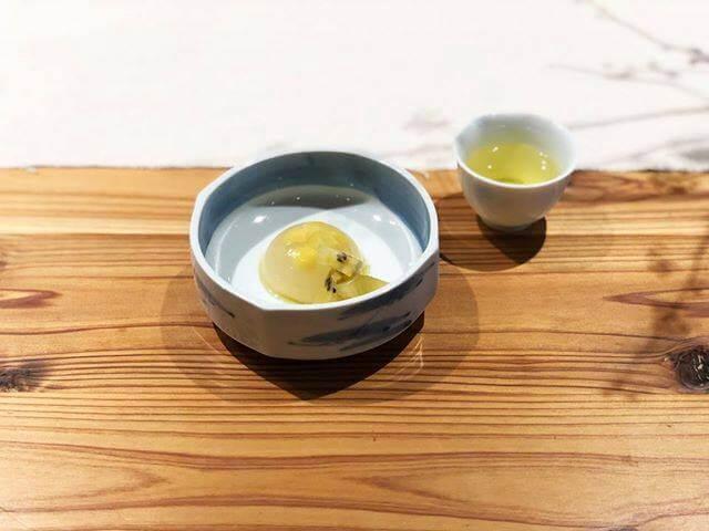 春野×キウイの寒天 銀杏・エルダーフラワー酒