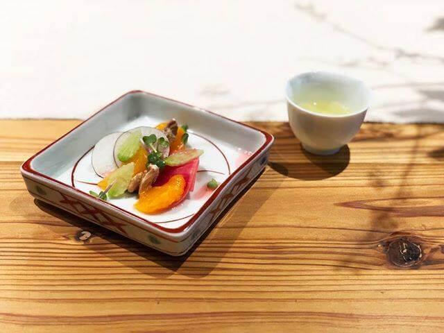 富士×冬のラディッシュサラダ みかん・くるみ
