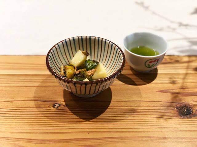 掛川×芽キャベツのロースト りんご・ロースト昆布