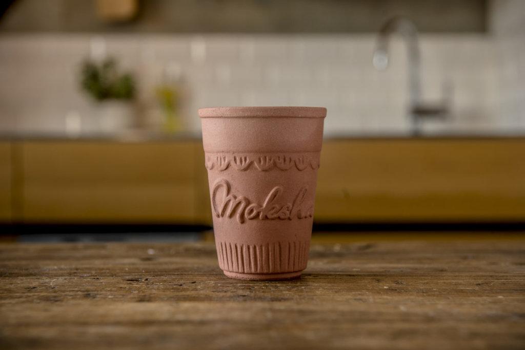 日本初のオリジナル素焼きカップ